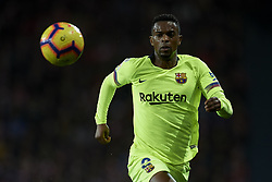 February 10, 2019 - Bilbao, Vizcaya, Spain - Nelson Semedo of Barcelona controls the ball during the week 23 of La Liga between Athletic Club and FC Barcelona at San Mames stadium on February 10 2019 in Bilbao, Spain. (Credit Image: © Jose Breton/NurPhoto via ZUMA Press)