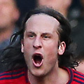 Football - 2012 / 2013 Premier League -Chelsea vs. West Bromwich Albion<br /> Jonas Olsson of West Bromwich Albion shouts at referee Kevin Friend over a decision at Stamford Bridge, London