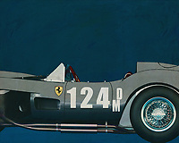 """In total, only 34 Ferrari Testa Rossa's were produced between 1956 and 1961. """"Testa Rossa"""" means """"red head"""", which refers to the red coloured cylinder heads. Of the best-known model, the 250 TR, only two factory and nineteen customer cars were built between '57 and '58. After the 250 GTO, the Testa Rossa is the most valuable Ferrari, with cars auctioned for more than six million euros[1]. The very first car (which competed in the 1958 Le Mans 24 Hours) was sold in 2011 for more than 11.4 million euros, a record price at the time for a Ferrari TR –<br /> <br /> <br /> BUY THIS PRINT AT<br /> <br /> FINE ART AMERICA<br /> ENGLISH<br /> https://janke.pixels.com/featured/1-ferrari-f-250g-testarossa-1964-jan-keteleer.html<br /> <br /> WADM / OH MY PRINTS<br /> DUTCH / FRENCH / GERMAN<br /> https://www.werkaandemuur.nl/nl/shopwerk/Ferrari-F-250G-Testarossa-1964/545120/134"""