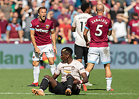 Football - 2018 / 2019 Premier League - West Ham United vs. Manchester United<br /> <br /> Mark Noble (West Ham United) protests after Paul Pogba (Manchester United) gets fouled at the London Stadium<br /> <br /> COLORSPORT/DANIEL BEARHAM