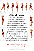 "FLYER'S BACK of the theatre play ""MERCI PAPA"" ..Photo & Design : Capucine Bailly"