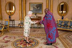 London: Lesotho HC Dr. John Oliphant and Ghana HC Papa Owusu-Ankomah with Queen - 29 June 2017