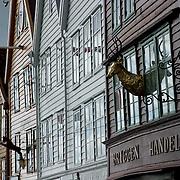 Three weeks aboard the Kong Harald. Hurtigruten, the Coastal Express. Bergen. Hanseatic wharf Bryggen in Bergen