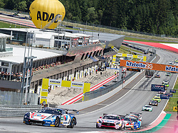10.06.2017, Red Bull Ring, Spielberg, AUT, ADAC GT Masters, Spielberg, 1. Rennen, im Bild v.l.: Jules Gounon (FRA)/Daniel Keilwitz (GER) Callaway Competition, Sebastian Asch (GER)/ Lucas Auer (AUT) BWT Muecke Motorsport // f.l.: French ADAC GT Masters driver Jules Gounon/German ADAC GT Masters driver Daniel Keilwitz of Callaway Competition German ADAC GT Masters driver Sebastian Asch/Austrian ADAC GT Masters driver Lucas Auer of BWT Muecke Motorsport during the 1st race of the ADAC GT Masters at the Red Bull Ring in Spielberg, Austria on 2017/06/10. EXPA Pictures © 2017, PhotoCredit: EXPA/ Dominik Angerer