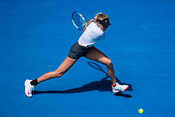 January 20, 2019 - Melbourne, VIC, U.S. - MELBOURNE, VIC - JANUARY 20: AMANDA ANISIMOVA (USA) during day seven match of the 2019 Australian Open on January 20, 2019 at Melbourne Park Tennis Centre Melbourne, Australia (Photo by Chaz Niell/Icon Sportswire) (Credit Image: © Chaz Niell/Icon SMI via ZUMA Press)