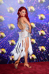 Dianne Buswell arriving at the red carpet launch of Strictly Come Dancing 2019, held at BBC TV Centre in London, UK.