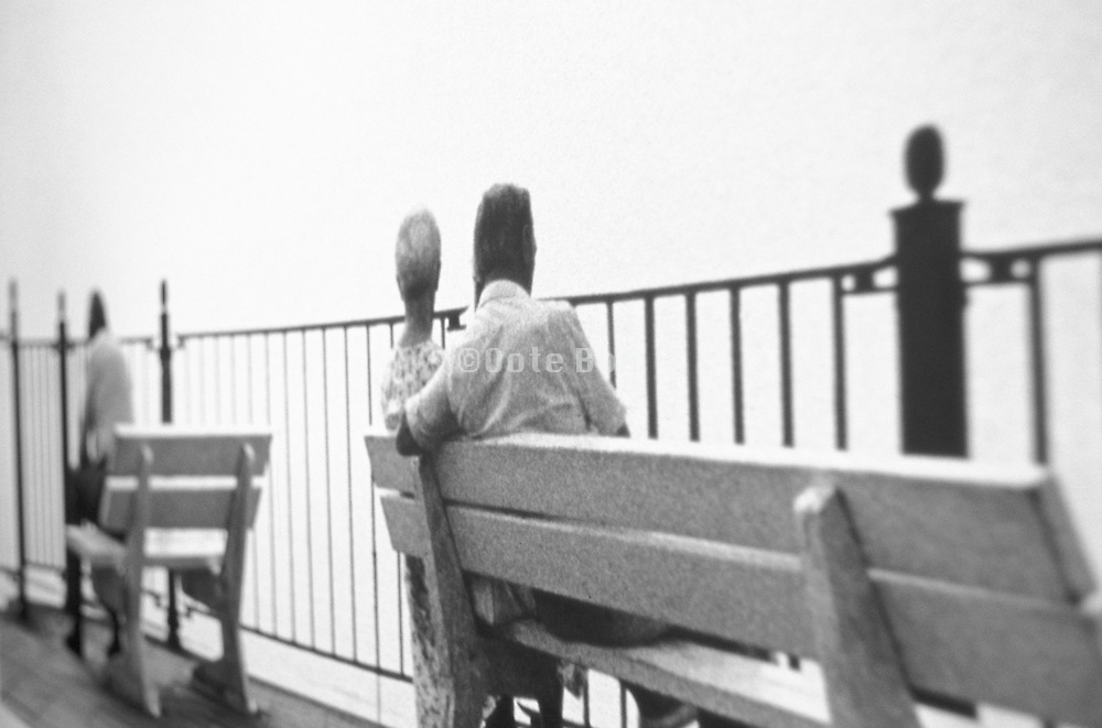 Elderly couple on a bench