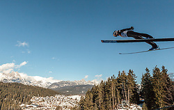 29.01.2016, Casino Arena, Seefeld, AUT, FIS Weltcup Nordische Kombination, Seefeld Triple, Skisprung, Probesprung, im Bild David Pommer (AUT) // David Pommer of Austria competes during his Trial Jump of Skijumping of the FIS Nordic Combined World Cup Seefeld Triple at the Casino Arena in Seefeld, Austria on 2016/01/29. EXPA Pictures © 2016, PhotoCredit: EXPA/ JFK