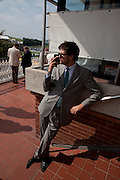 ISAAC FERRY, Glorious Goodwood. Ladies Day. 28 July 2011. <br /> <br />  , -DO NOT ARCHIVE-© Copyright Photograph by Dafydd Jones. 248 Clapham Rd. London SW9 0PZ. Tel 0207 820 0771. www.dafjones.com.