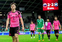 Kieran Tierney of Scotland after the football match between National Teams of Slovenia and Scotland of Fifa 2018 World Cup European qualifiers, on October 8, 2017 in SRC Stozice, Ljubljana, Slovenia. Photo by Vid Ponikvar / Sportida