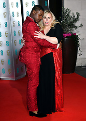 John Boyega and Rebel Wilson attending the after show party for the 73rd British Academy Film Awards.