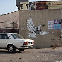 A mural in Bethlehem