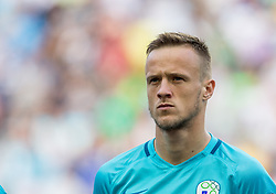 Antonio Delamea-Mlinar of Slovenia during football match between National teams of Slovenia and Malta in Round #6 of FIFA World Cup Russia 2018 qualifications in Group F, on June 10, 2017 in SRC Stozice, Ljubljana, Slovenia. Photo by Vid Ponikvar / Sportida