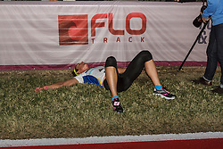 Beer Mile World Championships, Inaugural, women's elite race, Andrea Fisher recovers