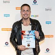 NLD/Utrecht/20181001 - Buma NL Awards 2018, Andre Hazes jr. neemt de award in ontvangst voor meest succesvolle album Hollands