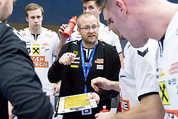 03.02.2017, BSFZ Suedstadt, Maria Enzersdorf, AUT, HLA, SG INSIGNIS Handball WESTWIEN vs HC FIVERS WAT Margareten, HLA Oberes Playoff, 1. Runde, im Bild Trainer Peter Eckl (HC FIVERS WAT Margareten) // during Handball League Austria, upper play off, 1 st round match between SG INSIGNIS Handball WESTWIEN and HC FIVERS WAT Margareten at the BSFZ Suedstadt, Maria Enzersdorf, Austria on 2017/02/03, EXPA Pictures © 2017, PhotoCredit: EXPA/ Sebastian Pucher