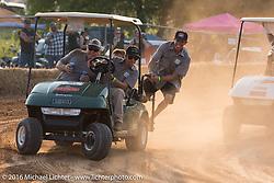 Golf Cart Hooligan racing at the 2016 ROT (Republic of Texas Rally). Austin, TX, USA. June 11, 2016.  Photography ©2016 Michael Lichter.