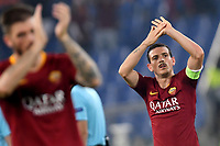 Alessandro Florenzi of AS Roma waves fans at the end of the Uefa Champions League 2018/2019 Group G football match between AS Roma and CSKA Moscow at Olimpico stadium Allianz Stadium, Rome, October, 23, 2018 <br />  Foto Andrea Staccioli / Insidefoto