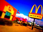 21 NOVEMBER 2011 - PHOENIX, AZ: A McDonald's on Indian School Rd in Phoenix, AZ. Photo was processed with iPhone apps.  PHOTO BY JACK KURTZ