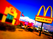 21 NOVEMBER 2011 - PHOENIX, AZ: A McDonald's on Indian School Rd in Phoenix, AZ. Photo was processed with iPhone apps.  PHOTO BY JACK KURTZ