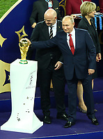 Fifa President Giovanni Infantino and Russia Federation President Vladimir Putin near the trophy<br /> Celebration Victory France <br /> Moscow 15-07-2018 Football FIFA World Cup Russia  2018 Final / Finale <br /> France - Croatia / Francia - Croazia <br /> Foto Matteo Ciambelli/Insidefoto