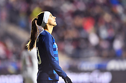 February 27, 2019 - Chester, PA, U.S. - CHESTER, PA - FEBRUARY 27: US Forward Alex Morgan (13) reacts to a missed scoring opportunity in the second half during the She Believes Cup game between Japan and the United States on February 27, 2019 at Talen Energy Stadium in Chester, PA. (Photo by Kyle Ross/Icon Sportswire) (Credit Image: © Kyle Ross/Icon SMI via ZUMA Press)