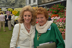 Left to right, LADY WOLFSON and LADY HAMLYN at the 2014 RHS Chelsea Flower Show held at the Royal Hospital Chelsea, London on 19th May 2014.