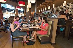 United States, Washington, Kirkland, restaurant.  MR, PR