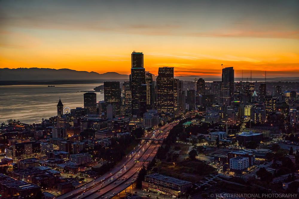 Seattle Skyline @ Sunset