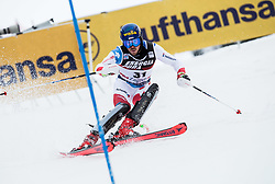 """Marc Rochat (SUI) competes during 1st Run of FIS Alpine Ski World Cup 2017/18 Men's Slalom race named """"Snow Queen Trophy 2018"""", on January 4, 2018 in Course Crveni Spust at Sljeme hill, Zagreb, Croatia. Photo by Vid Ponikvar / Sportida"""