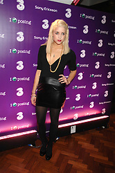PEACHES GELDOF at a party to celebrate the launch of the new purple Sony Ericsson K770i phone held at the Bloomsbury Ballroom, Bloomsbury Square, London on 24th October 2007.<br />