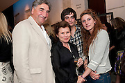 JIM CARTER; IMELDA STAUNTON; JACK CARTER; BESSIE CARTER, Press night for Edwards Albee's A Delicate Balance at the Almeida Theatre. London. 12 May 2011. <br /> <br />  , -DO NOT ARCHIVE-© Copyright Photograph by Dafydd Jones. 248 Clapham Rd. London SW9 0PZ. Tel 0207 820 0771. www.dafjones.com.