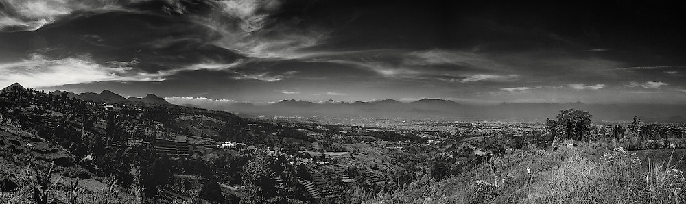 Bandung view from Punclut, Bandung, West Java, Indonesia.