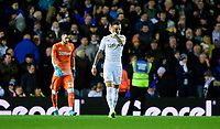 Leeds United's Francisco Casilla, left, and Leeds United's Ben White after Sheffield Wednesday's Jacob Murphy scored the opening goal <br /> <br /> Photographer Chris Vaughan/CameraSport<br /> <br /> The EFL Sky Bet Championship - Leeds United v Sheffield Wednesday - Saturday 11th January 2020 - Elland Road - Leeds<br /> <br /> World Copyright © 2020 CameraSport. All rights reserved. 43 Linden Ave. Countesthorpe. Leicester. England. LE8 5PG - Tel: +44 (0) 116 277 4147 - admin@camerasport.com - www.camerasport.com