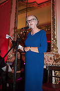 SARAH CROWDEN, Literary Review  40th anniversary party and Bad Sex Awards,  In & Out Club, 4 St James's Square. London. 2 December 2019