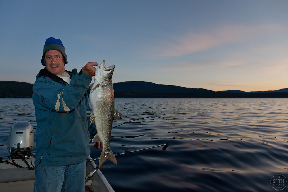 Captain Pete with a Tahoe Mackinaw