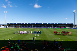 Exeter Chiefs and Toulouse during the 'You are the Stars' minutes applause prior to kick off - Mandatory by-line: Ryan Hiscott/JMP - 26/09/2020 - RUGBY - Sandy Park - Exeter, England - Exeter Chiefs v Toulouse - Heineken Champions Cup Semi Final