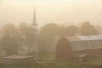 Foggy morning in Peacham, Vermont
