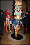 GRAYSON PERRY; YINKA SHONIBARE'S WORK , Royal Academy of Arts Summer Exhibition 2014. Piccadilly. London. 4 June 2014.