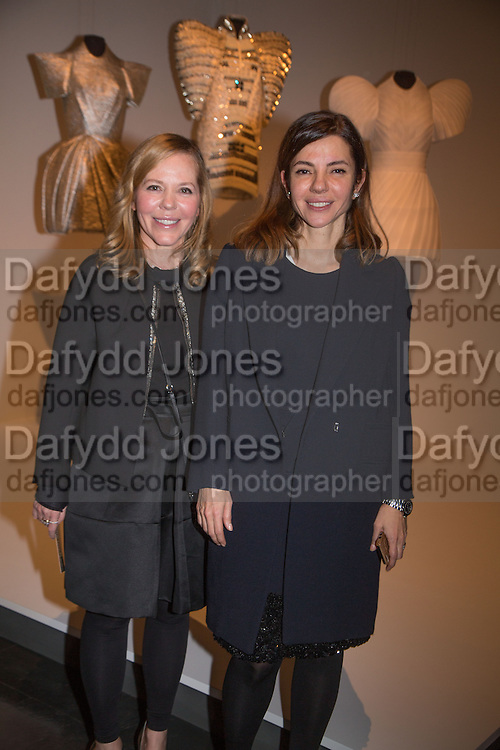 AYSE EGE; AJA EGE OF DICE KAYEK WINNERS OF JAMEEL 2013 PRIZE, Jameel Prize, Victoria and Albert Museum. London. 10 December 2013.<br /> <br /> The Jameel Prize is an international award for contemporary art and design inspired by Islamic tradition.