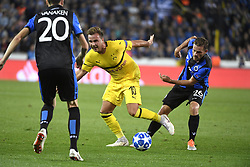 September 18, 2018 - Brugge, BELGIQUE - BRUGGE, BELGIUM - SEPTEMBER 18 : Mats Rits midfielder of Club Brugge and Mario Gotze midfielder of Borussia Dortmund  pictured during a  the UEFA Champions League Group A stage match between Club Brugge and Borussia Dortmund at the Jan Breydel stadium on September 18, 2018 in Brugge, Belgium , 18/09/2018 (Credit Image: © Panoramic via ZUMA Press)