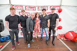 Raintown in the signing tent. Sunday at Party at the Palace 2017, Linlithgow.