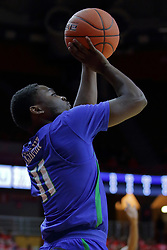 NORMAL, IL - November 06:  Schadrac Casimir during a college basketball game between the ISU Redbirds  and the Florida Gulf Coast Eagles on November 06 2018 at Redbird Arena in Normal, IL. (Photo by Alan Look)