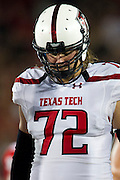 DALLAS, TX - AUGUST 30: Beau Carpenter #72 of the Texas Tech Red Raiders looks on against the SMU Mustangs on August 30, 2013 at Gerald J. Ford Stadium in Dallas, Texas.  (Photo by Cooper Neill/Getty Images) *** Local Caption *** Beau Carpenter