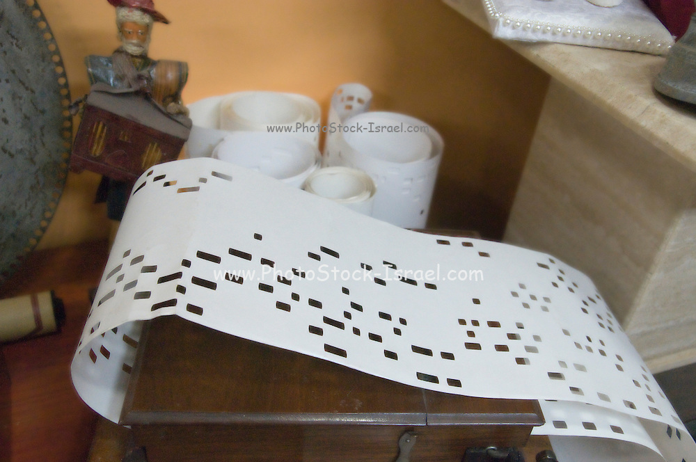 Israel, Ein Hod Artists village, The Nisco Museum of Mechanical Music Paper tape operated music box