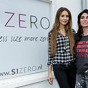 NLD/Apeldoorn/20150119 - Melisa van der Meyde - Schaufeli opent een Size Zero vestiging, met eigenaresse Tamara Elbaz