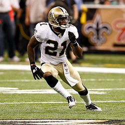 August 21, 2010; New Orleans, LA, USA; New Orleans Saints safety Chip Vaughn (21) in coverage during the second half of a 38-20 win by the New Orleans Saints over the Houston Texans during a preseason game at the Louisiana Superdome. Mandatory Credit: Derick E. Hingle