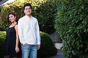 Paolo and Katrina Delgado poses for her senior portrait at Saint Mary's College of California in Moraga, California, on April 8, 2015. (Stan Olszewski/SOSKIphoto)