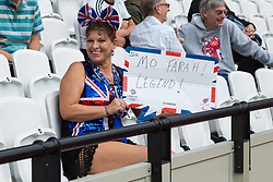 London, 2017-August-04. A dedicated Mo Farah supporter at the IAAF World Championships London 2017. Paul Davey.