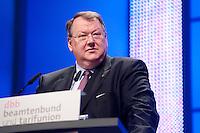 13 JAN 2009, KOELN/GERMANY: <br /> Peter Heesen, Bundesvorsitzender dbb, haelt eine Rede, 50. Gewerkschaftspolitische Arbeitstagung des deutschen Beamtenbundes, dbb, Messe Koeln<br /> IMAGE: 20090112-01-064